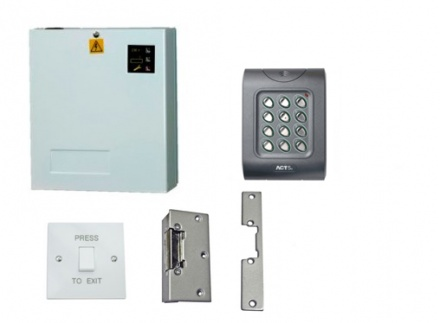 Access Control Kit K1LR: Keypad, Lock Release, Exit Switch & Power Supply