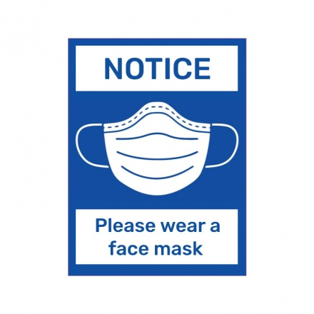 Covid-19 Signage - Please wear mask