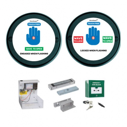 Touch Free Toilet Door Kit - Round Housing