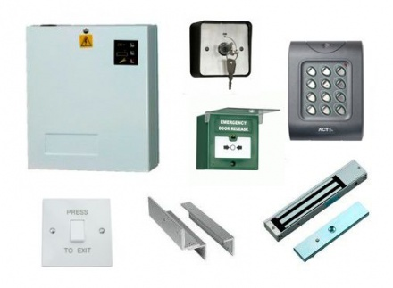 Access Control Kit K2: Keypad, Magnetic Lock, Exit Switch, PSU, Keyswitch, Breakglass