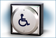 Automatic Door Push Pad Wireless Wheelchair logo (WC)