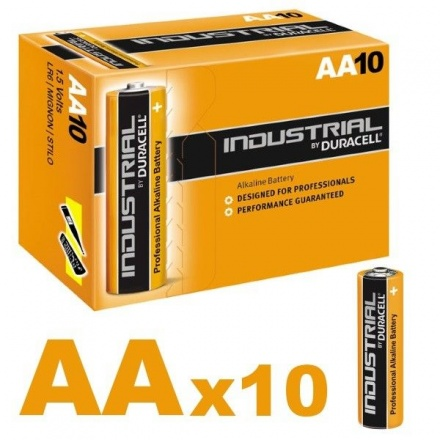 Duracell Industrial AA Batteries LR6 ID1500 Box of 10 Bulk Pack 1.5V (Procell)