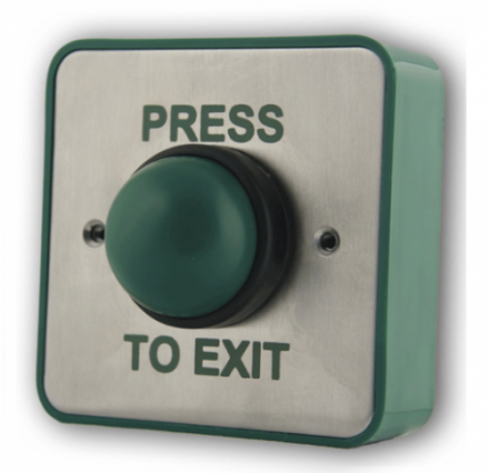 Exit Button Press To Exit Green Dome Switch