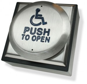Automatic Door Push Pad with Wheelchair WC/PTO