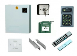 Access Control Kit K3: Keypad, Magnetic Lock, Exit Switch, PSU, Keyswitch, Breakglass
