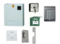 Access Control Kit K2LR: Keypad, Lock Release, Exit Switch, PSU, Keyswitch, Breakglass