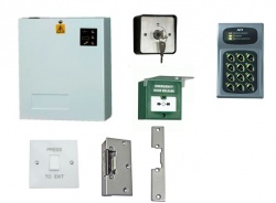 Access Control Kit K3LR: Keypad, Lock Release, Exit Switch, PSU, Keyswitch, Breakglass