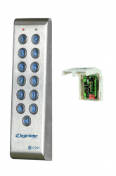 Keypad in stainless steel with remote electronics
