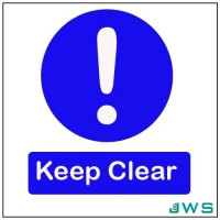 Automatic Door Sign - Keep Clear (Pack of 4)