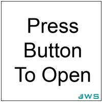 Automatic Door Sign - Press Button To Open (Pack of 4)