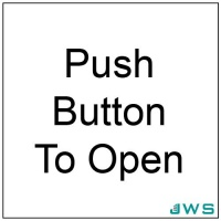 Automatic Door Sign - Push Button To Open