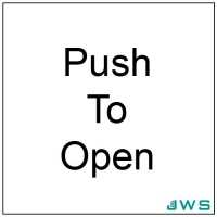 Automatic Door Sign - Push To Open