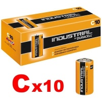 Duracell Industrial C Batteries LR14 ID1400 Box of 10 Bulk Pack 1.5V (Procell)