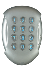 Wireless keypad in vandal-resistant housing